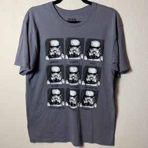STARWARS Juniors Large Gray Tee